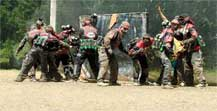 paintball team starting at a paintball event, tournaments